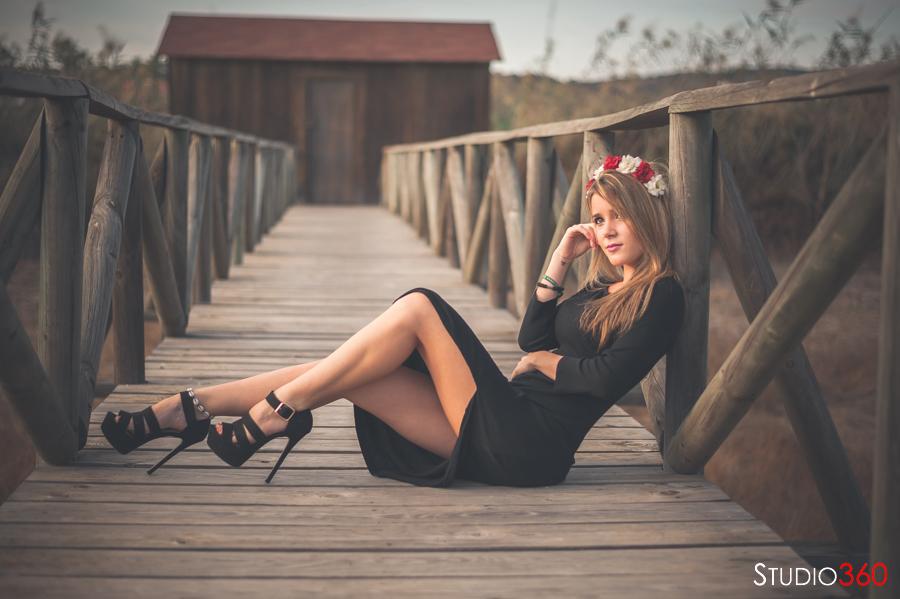 Modelo, chica, sesión, reportaje