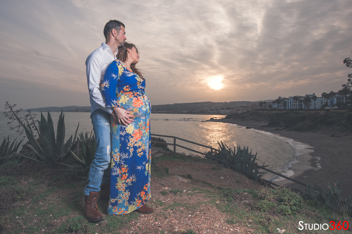 embarazada, embarazo, premama, maternidad, playa, pareja, bebe