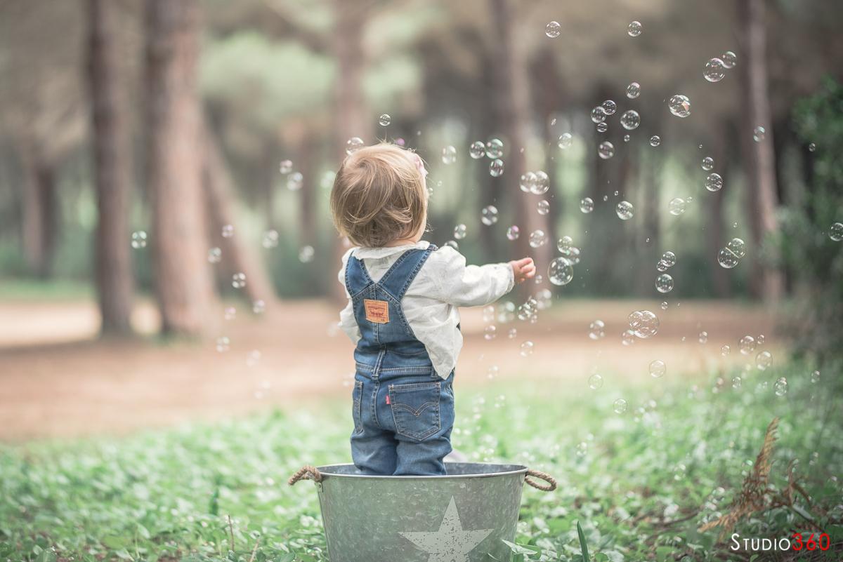 Niño niña infantil campo sesion fotografica