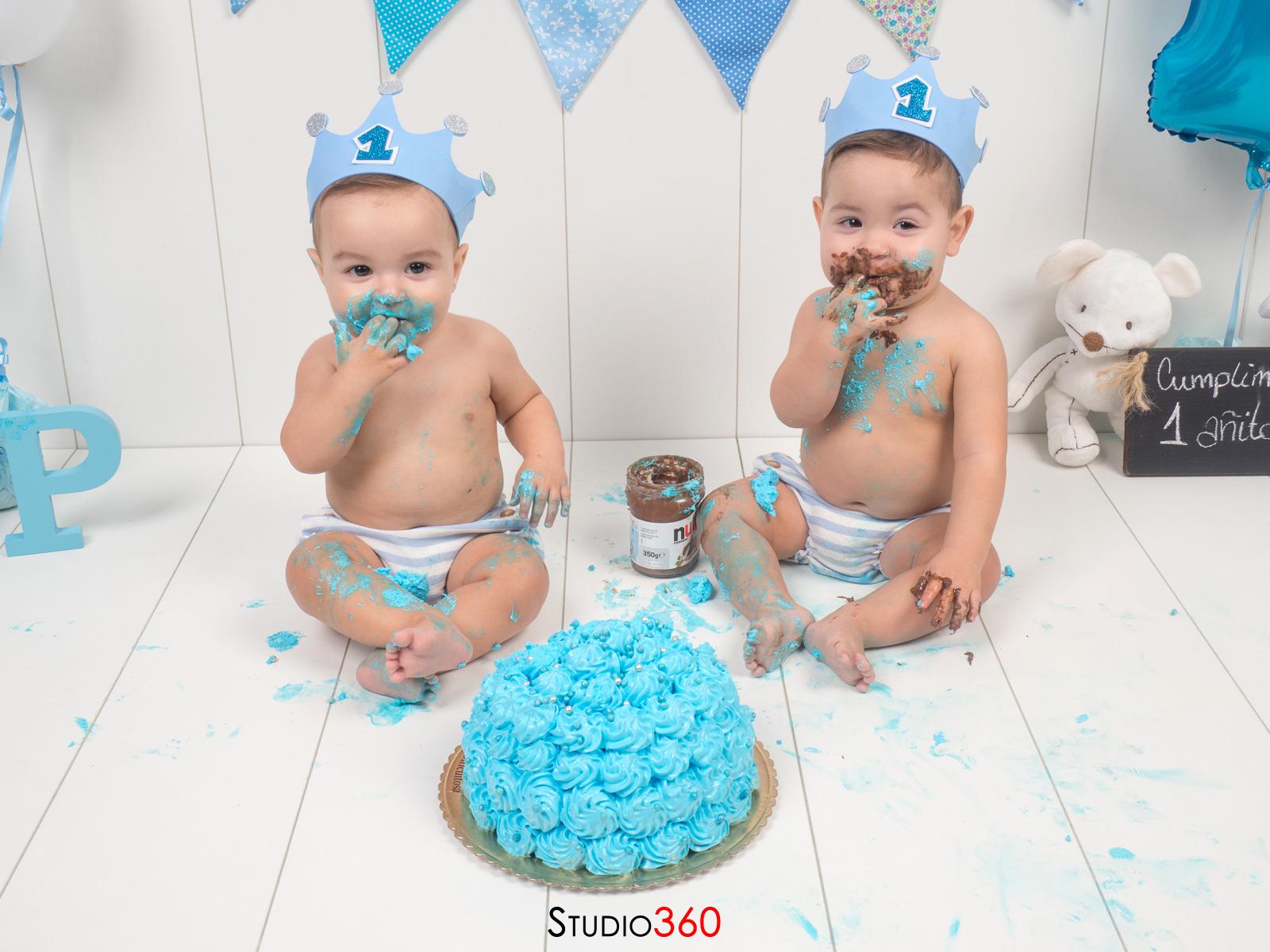 Smash Cake cumpleaños estudio tarta