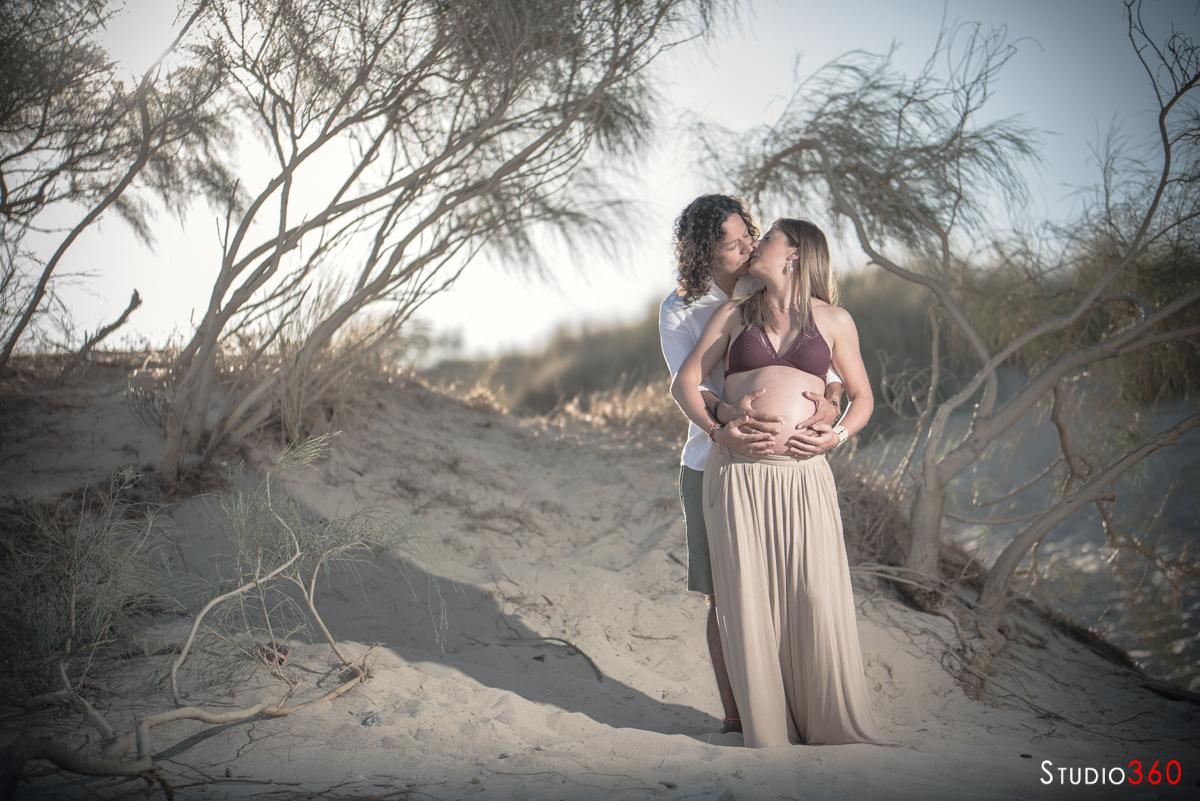embarazada playa tarifa dunas